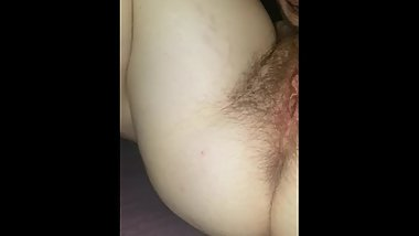 Eating girlfriends hairy pussy