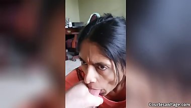 Older Indian Wife Sucking Dick