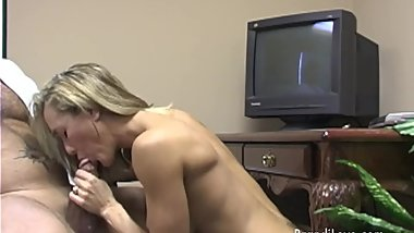 Brandi Love gets a big load of jizz in her mouth in the office